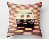 Nursery Decor Pillow Cover - 442 Polka - home decor, throw pillow, polka dots, toy car, salmon, yellow, brown