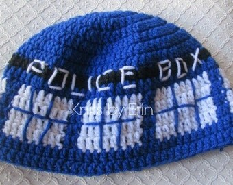 Teen/ Adult Size TARDIS Dr. Who hat