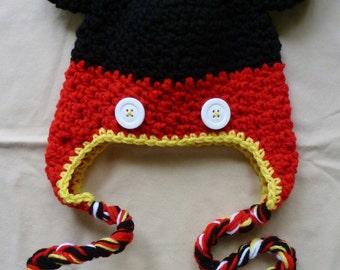 Mouse Earflap Hat