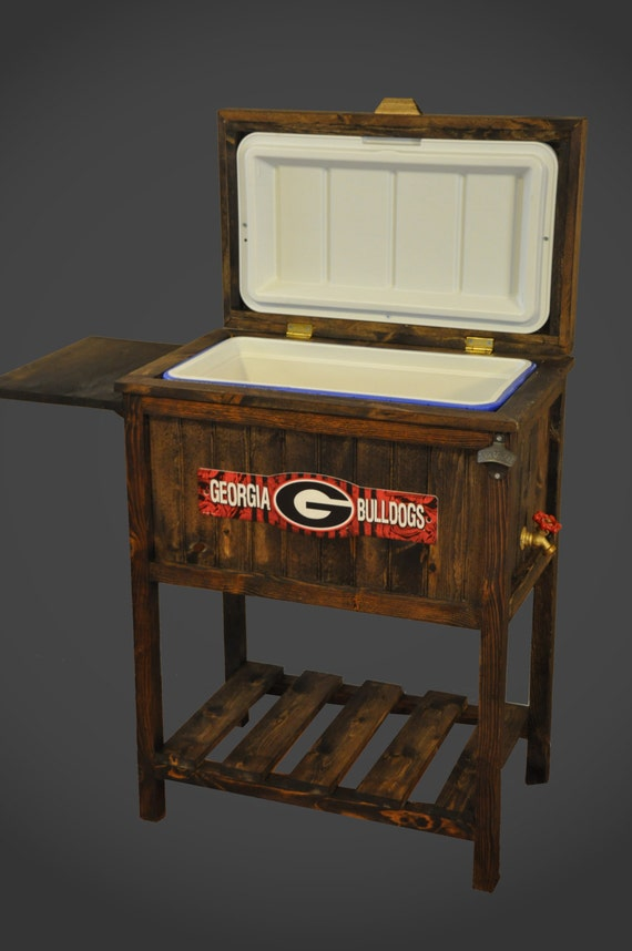 Items Similar To Wooden Collegiate 48qt Cooler On Etsy