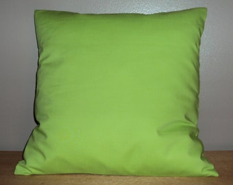 Solid Lime Green Cotton Decorative Pillow Cover - Available In 3 Sizes