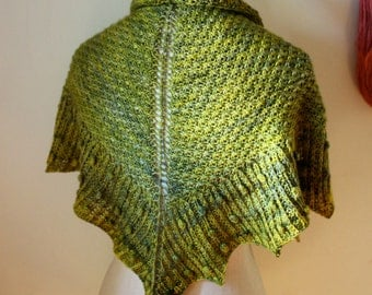 Knitting Pattern / Asterisque Shawlette Kerchief / PDF Digital Delivery