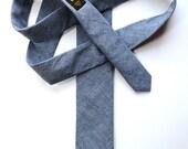 Chambray Narrow Tie