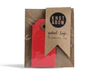 Red Parcel Gift Tags / Set of 10