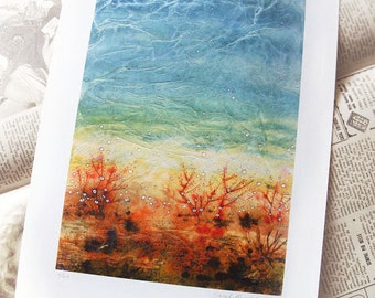Art print - landscape - turquoise - abstract - Soul and Sea
