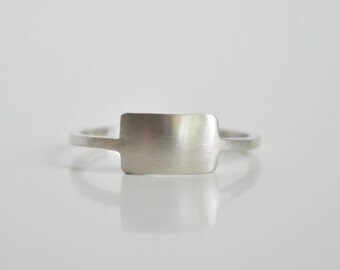 Primitive Rectangle Ring in Sterling Silver
