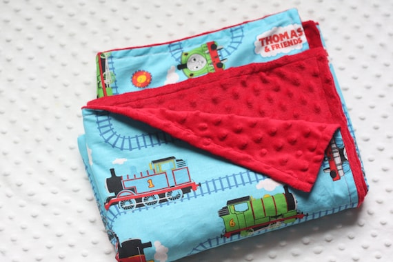 Thomas The TRAIN Blanket With Minky Or Flannel Back Toddler
