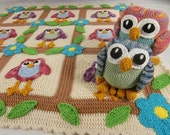 Happy Owl Afghan and Amigurumi Pattern