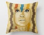 Badu - Throw Pillow