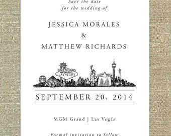 Las Vegas Skyline Wedding invitation SAMPLE ONLY