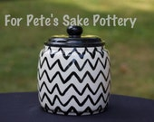 Chevron Canister- Cookie jar