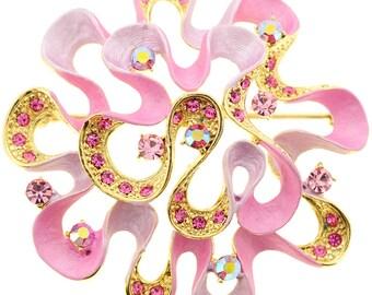 Pink Flower Pin Brooch 1010112