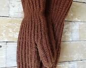 Vintage Mittens Brown