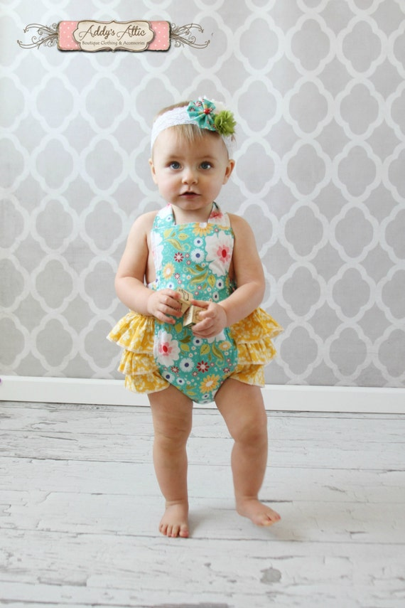 Baby Girl Sunsuit Romper Ruffle Romper Toddler Girl