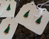 Xmas Tree Gift Tags - Handmade