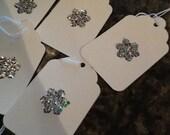 Crystal Snowflake Gift Tags  - Handmade
