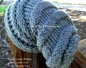 Knitting loom pattern slouchy hat