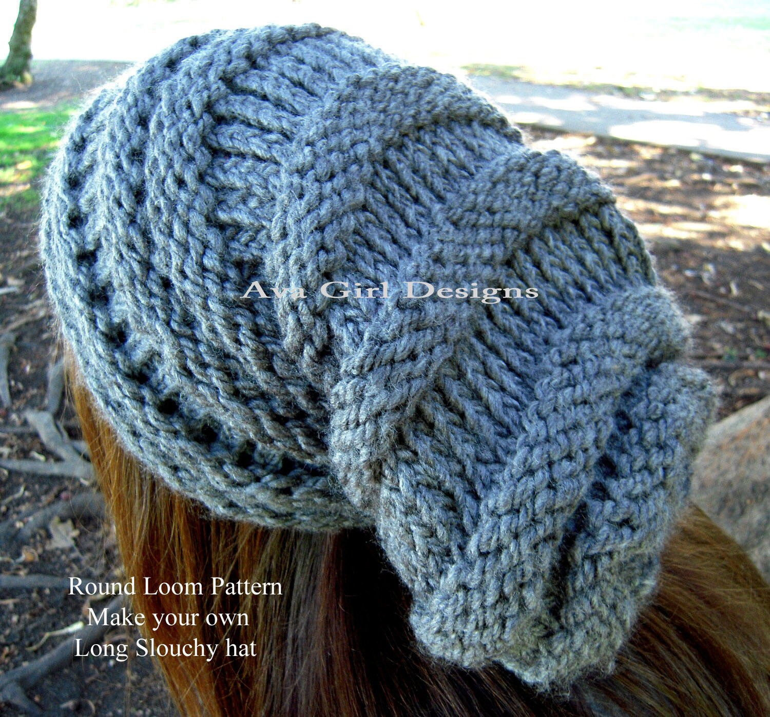 Knitting Loom Pattern : Knitting loom pattern slouchy hat