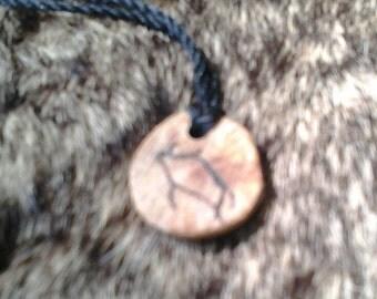 Oak Boar Pendant