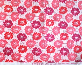 Aunt Edna pink floral DS Quilts Denyse Schmidt fabric  FQ or more