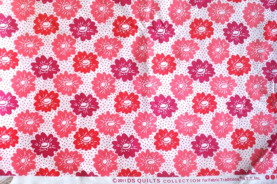 Aunt Edna pink floral DS Quilts Denyse Schmidt fabric  FQ or more