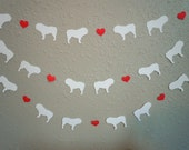 Bulldog Love Paper Garland - Valentine's Day Decor - Choose Your Colors