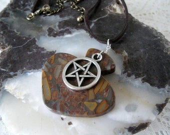 Pentagram Necklace, wiccan jewelry pagan jewelry wicca jewelry pentacle witch witchcraft metaphysical gypsy new age magic pagan necklace