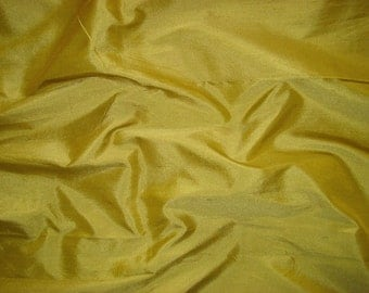 dupioni silk fabric - hay fat quarter sld136