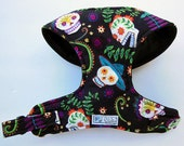 Day of the Dead Comfort Soft Dog Harness. - Made to order -