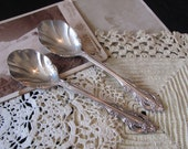 Set of 2 Silver Plate Sugar Berry Spoons -  Artistry 1965 Pattern