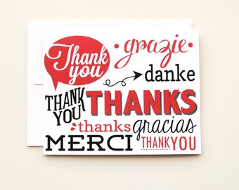 Thank You Card - Set of 6
