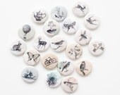 Buttons - Vintage Images (set of 20)