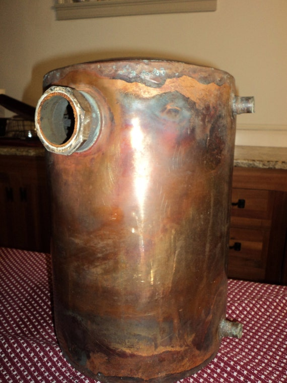 Items similar to vintage copper water tank on etsy for Copper water tank