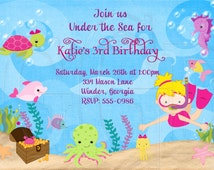 Under the Sea Invitation Scuba Invitation- Digital File