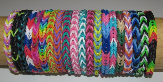 Items Similar To Rainbow Loom Rubber Band Stretch Bracelet