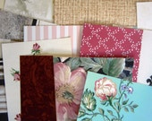 Vintage Wallpaper collage Pack- Vintage paper ephemera lot wallpaper tons of mixed variety tons of pieces.