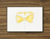 congrats bowtie card