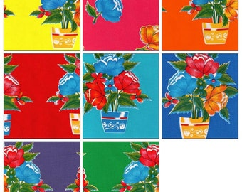 OilclothByTheYard Flower Pot Your Choice of Color