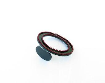 Beaded Bangle-Black Bead Bangle-Modern Bangle-Beaded Jewelry-Modern Jewellery-Handcrafted Jewellery