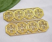 8pcs Flat Stamping Filigree Findings for Jewelry Making Chinese Style bf080