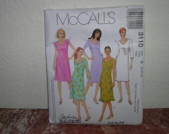 McCall's Fashion Basics number 3110 size B 8,10, 12