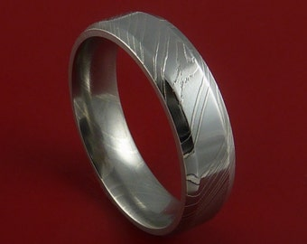 Damascus Steel Ring Wedding Band Genuine Craftsmanship Custom Made