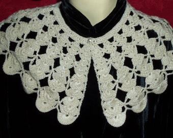 Shabby Chic Bohemian Vintage Crochet Collar/Shrug/Wrap