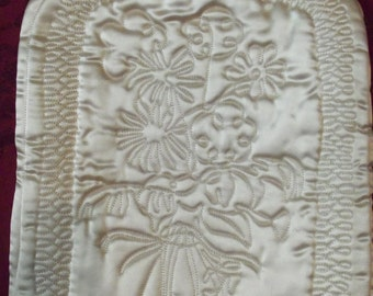 Antique  French Silk Satin Heating Pad Cover Made in Paris
