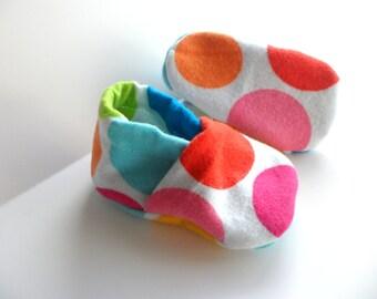 Bright Polkadot Baby Shoes
