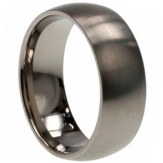 Titanium Wedding Band Comfort Fit Ring 8mm Width By Usajewelry
