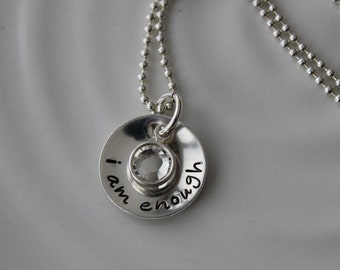 Inspirational Word Charm Necklace