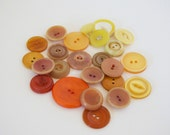 24pc. Oranges and Yellows- vintage button lot
