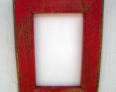 Choose color, 8.5 x 11 Picture Frame, Red Rustic Weathered Style With Routed Edges, Rustic Home Decor, Document Frame