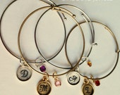 A to Z Bangle With Birthstone
